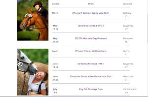 centerline show schedule